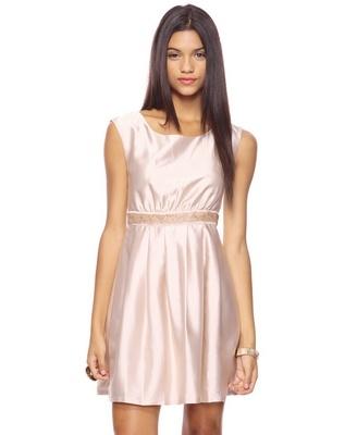 Beaded Waistband Dress (Champagne). Forever 21. $29.80