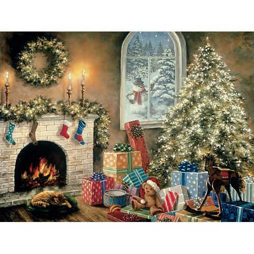 Not A Creature Was Stirring 1000 Piece Glow Jigsaw Puzzle
