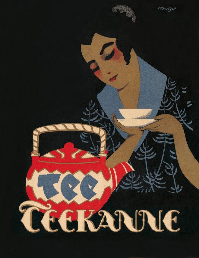 Vintage Poster Ads 'Teekanne' Tee by Heinrich Molge & Jupp Wiertz 1920's/30's