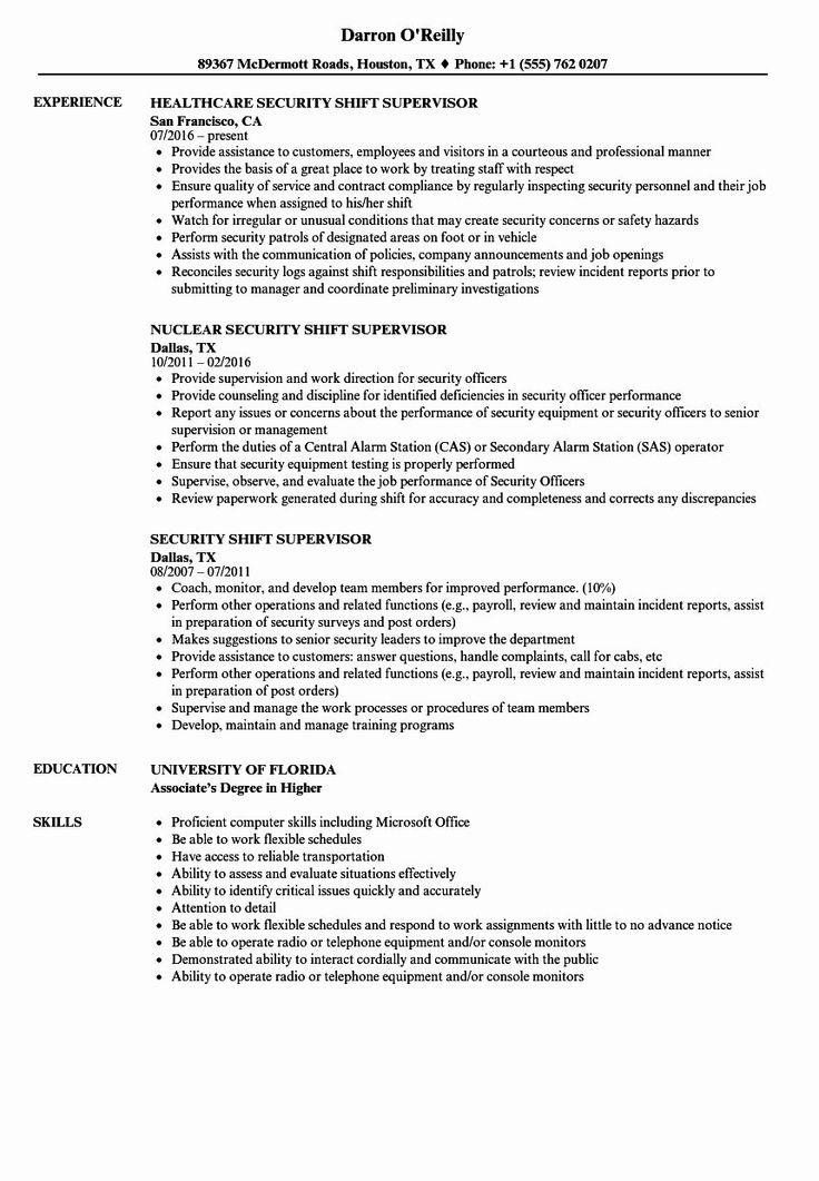 20 Shift Manager Job Description Resume Graphic design