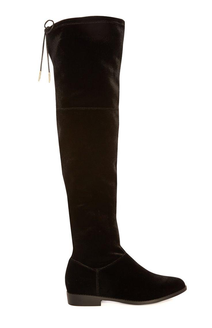 Primark - Black Stretch Long Boots
