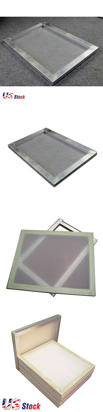 Screen Printing Frames 183114: Us Stock 6 Pcs 20 X 24 Inch Aluminum Screen With 110 White Mesh -> BUY IT NOW ONLY: $102 on eBay!