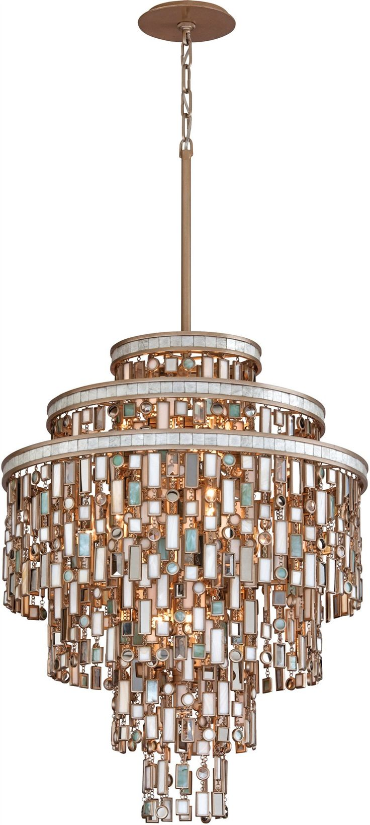 Corbett Lighting Dolcetti Transitional Crystal Pendant Light