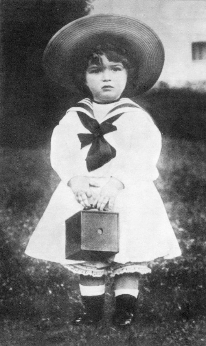 """...little sailor girl"" little sailor boy--Tsarevich Alexei, son of Nicholas II."