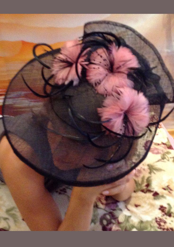 Шляпка для скачек из натуральной соломки-синамей.Автор-дизайнер Хлопонина (Файдыш)Светлана.
