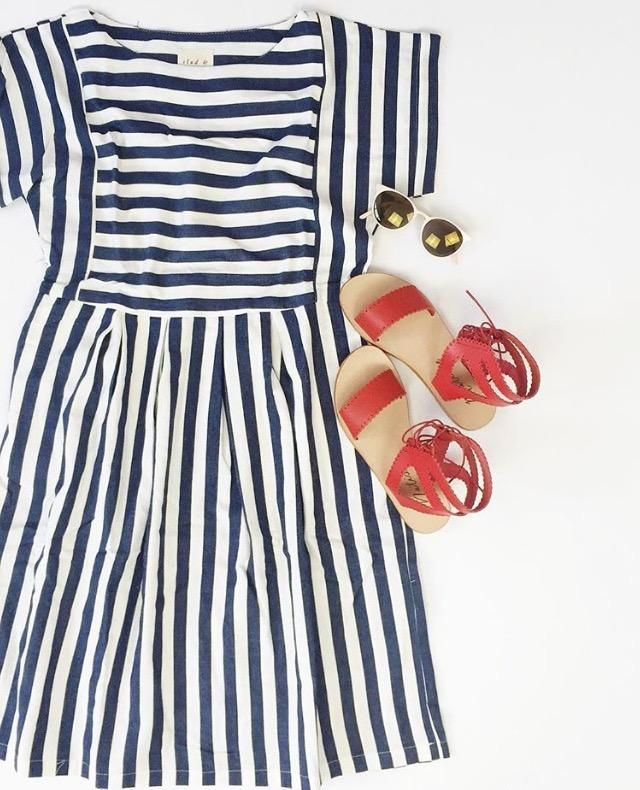 Summer never looked so good! Loving this Stripe Bib Dress so much.