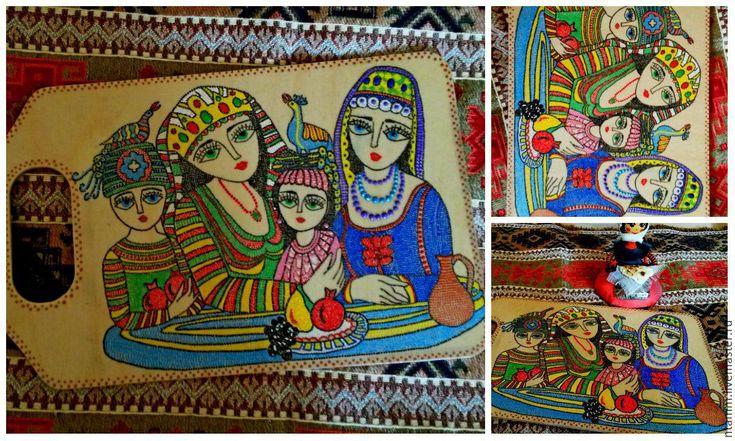 """Купить Кухонная доска """"Армянские мотивы"""" - кухня, доска, интерьер, армения, армянский, подарок"""