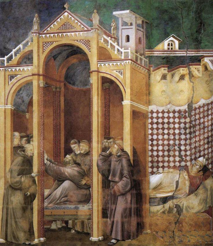 giotto di bondone fresques de la vie de fran 231 ois d assise 21 le fr 232 re agostino et l