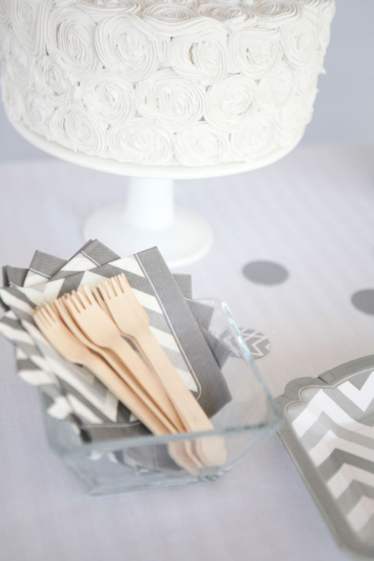 Bridal shower party supplies - Shades Of Gray Gray Chevron Party Supplies Perfect For Baby Showers Birthday Parties Bridal Showers And Everyday Parties