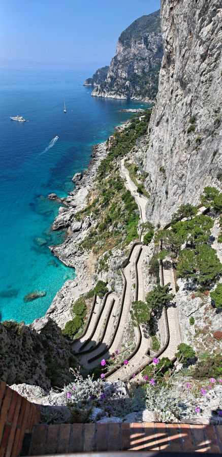 Via Krupp is a historic switchback paved footpath on the island of Capri, connecting the Charterhouse of San Giacomo and the Gardens of Augustus area with Marina Piccola.