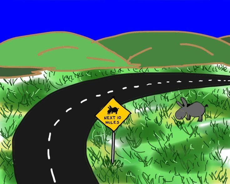 """Blurtso sees a sign"". Courtesy: Alan Davison, Salt Lake City, Utah, (USA)."