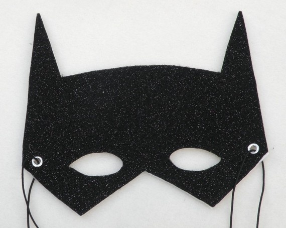 Batman mask- these would be easy to cut out of felt and attach elastic string to.