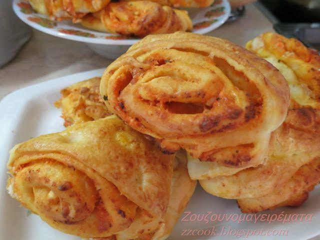 Οι Γάλλοι κάνουν αυτά τα ψωμάκια με ζάχαρη και σταφίδες...εμάς μας αρέσουν αλμυρά...το αποτέλεσμα μετράει, φανταστική η ζύμη,...