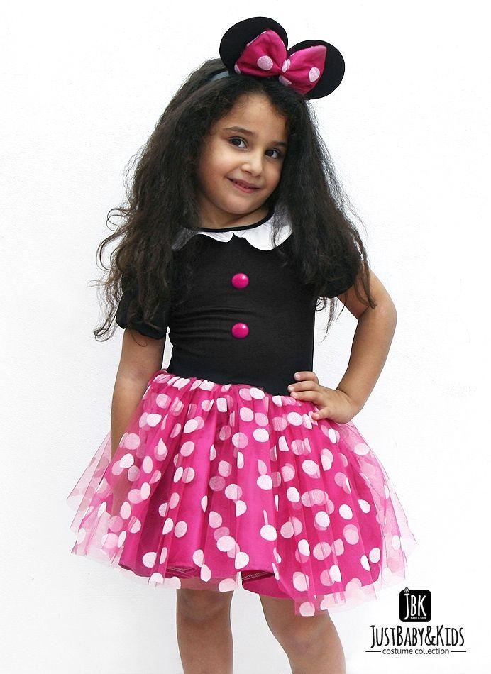 CCK04A Minnie Mouse Fuşya Tütü Kostüm Just Baby & Kids - Bebek ve Çocuk Kostüm - Giyim