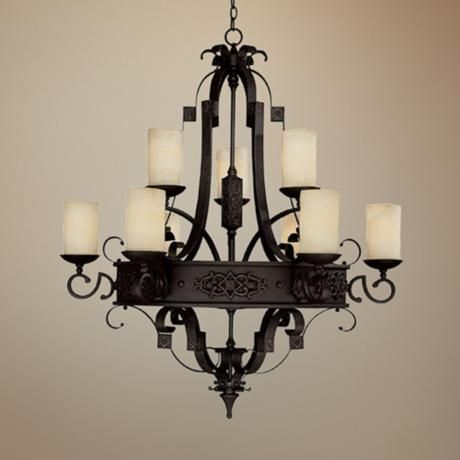 Ornate Metalwork And Scavo Glass Define This Captivating Chandelier Style 06989 At Lamps Plus