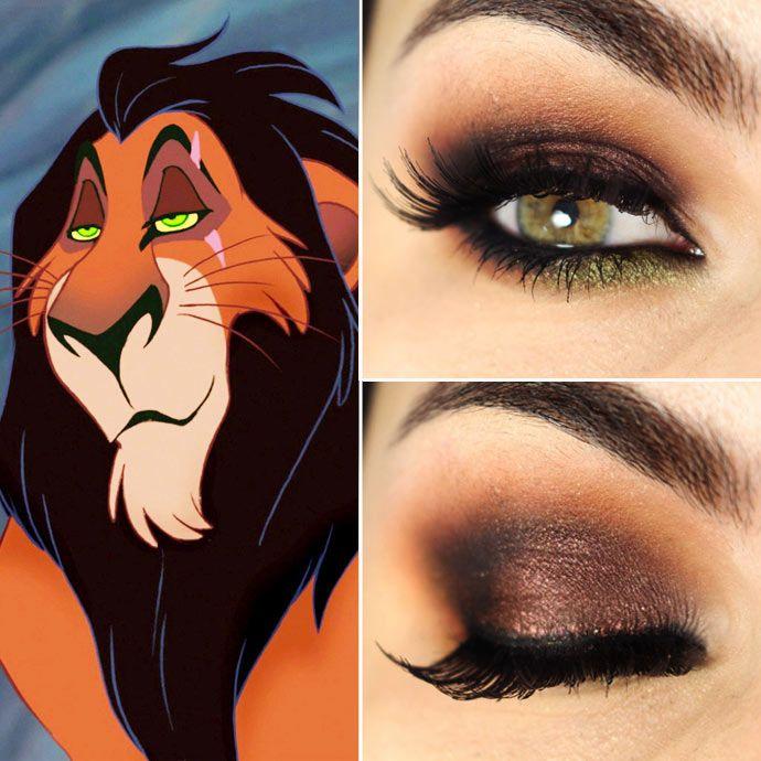 Maquiagem inspirada em Scar de O Rei Leão