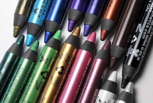 NYX Slide-on eye liners. I have this in black and LOVE it . I use it more than my UD 24/7 glide on liner
