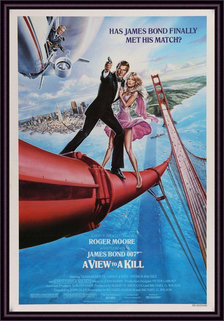 James Bond A View To A Kill 1985 In 2020 James Bond Movie