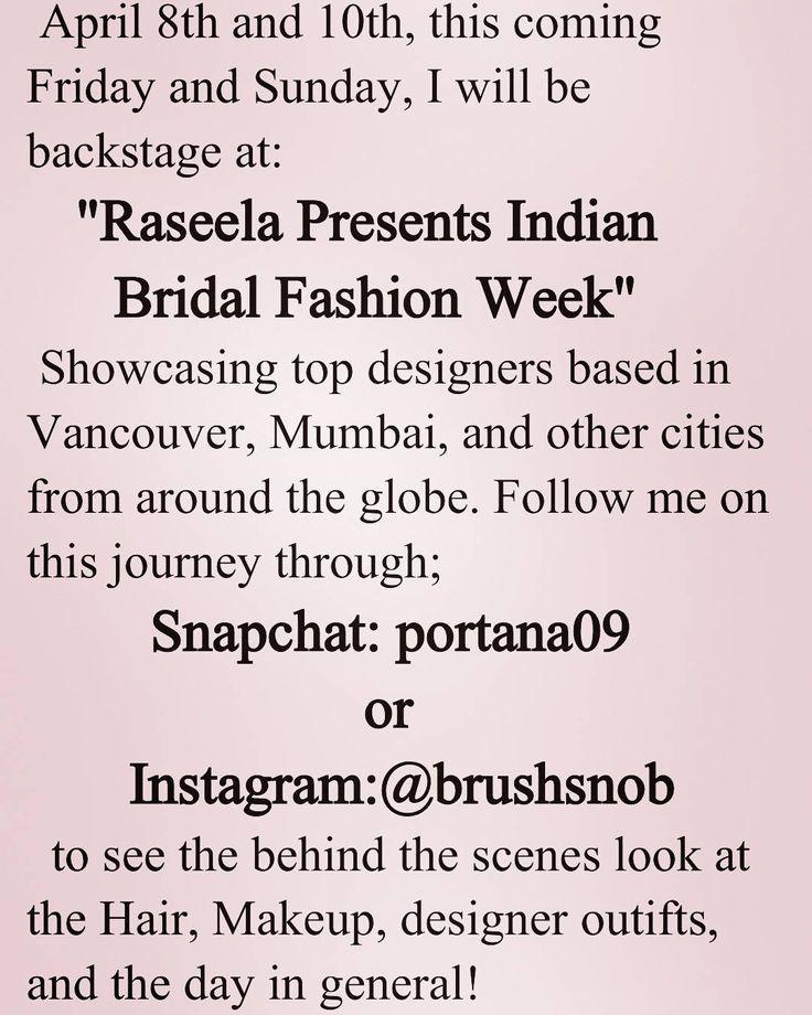Follow along to see what goes on backstage at Indian Bridal Week!  #brushsnob #mua #rasleela #indianbridal #indianfashionweek #bridalmakeup by portana09