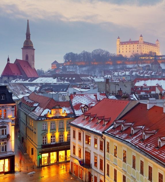 Visit the capital city only 60 km from Vienna. Enjoy charming European atmosphere in not crowded peacefull way. Take a walk to the castle hill to admire a great view of the city. #Bratislava #Slovakia