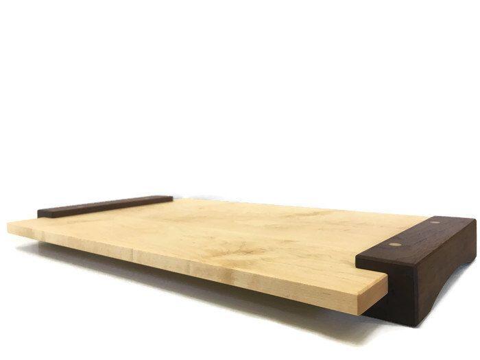 Handcrafted Wood Tray, Bar Service Board, Hardwood Tray, Wine Cheese Tray,  Laptop Desk, Breakfast Tray, Coffee Table Tray, Housewarming by SchultzFurnishings on Etsy https://www.etsy.com/listing/273503104/handcrafted-wood-tray-bar-service-board