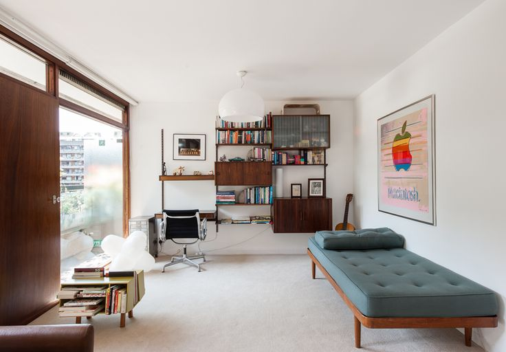 Cool interior of a Barbican apartment courtesy of the Modern house - http://www.themodernhouse.net/sales-list/barbican-london-ec2y/description-817/