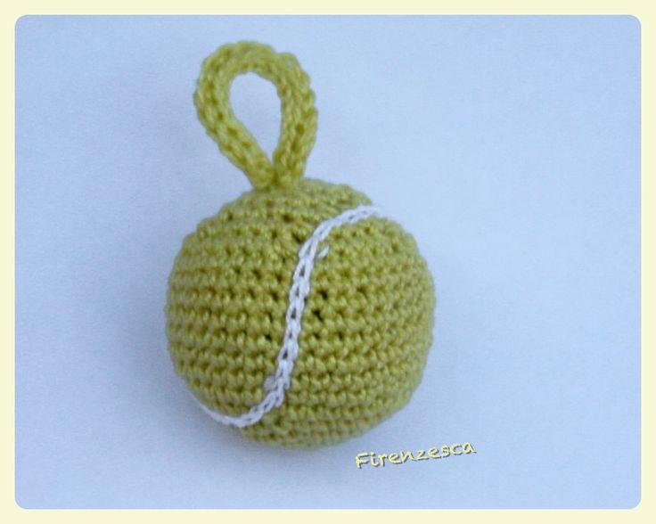 "tennis ball crochet amigurumi palla uncinetto ""Francesca Birini"""