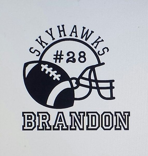 FOOTBALL personalized Car Decal Vinyl by ONaBALLgreetings on Etsy, $5.00