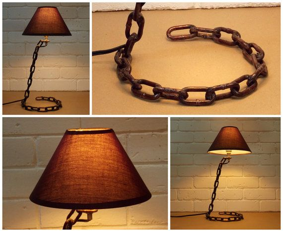 Industrial lamp lamp office-industrial chain by BottlesAndOthers