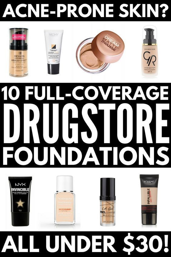 Looking For The Best Full Coverage Drugstore Foundation For Acne We Ve Got You Co Full Coverage Drugstore Foundation Acne Foundation Best Drugstore Foundation