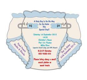 INVITATION DESIGN - Baby Shower (BOY) E-Invitation