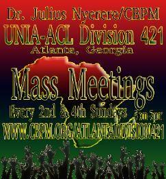 Dr. Julius Nyerere CBPM UNIA-ACL Division 421; Atlanta, Georgia