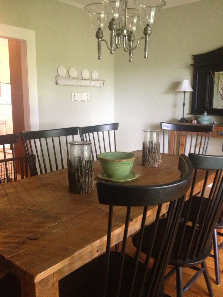 Dining Table Made From Old Barn Door Dining Room Revamp Pinterest