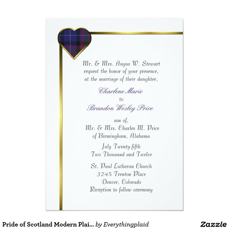 450 best TARTAN WEDDING Invitations images on Pinterest | Tartan ...