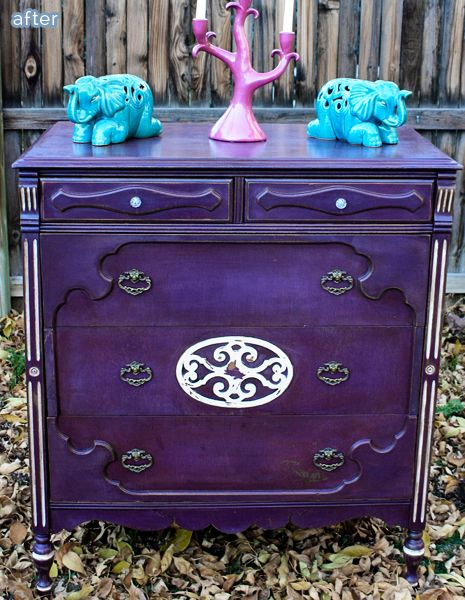 Purple Rain: Check out these purple furniture makeovers at betterafter.net