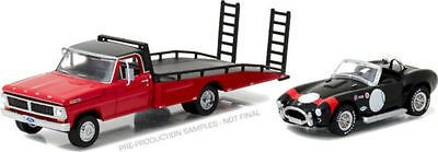 1970 Ford F-350 Ramp Truck Shelby Cobra Heavy Duty Trucks 1/64 Greenlight 33080