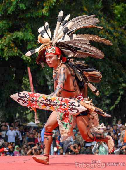 Dayak warrior - Borneo, Indonesia