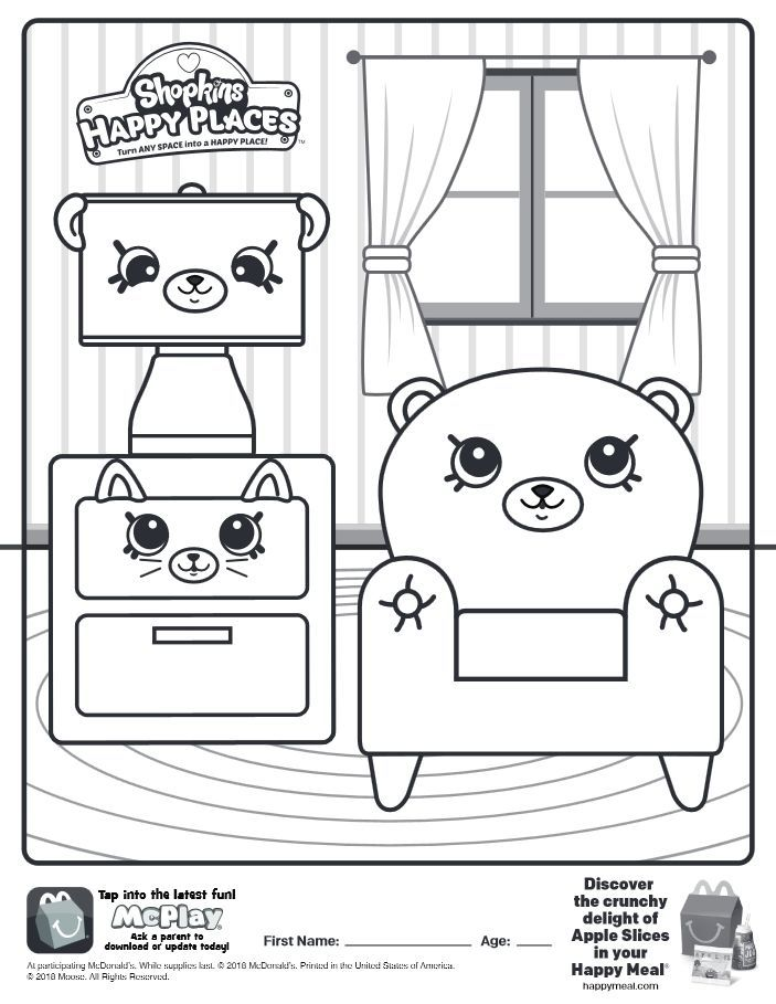 Here Is The Happy Meal Shopkins Happy Places Coloring Page Click