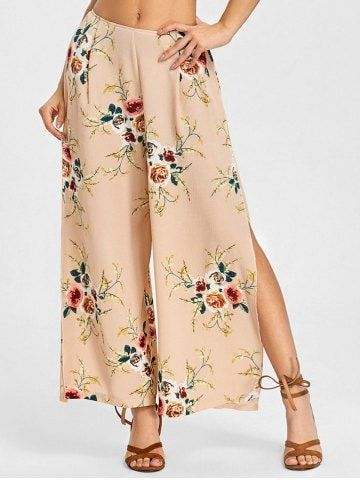 GET $50 NOW | Join RoseGal: Get YOUR $50 NOW!https://www.rosegal.com/pants/print-sides-slit-palazzo-pants-1987179.html?seid=4514413rg1987179