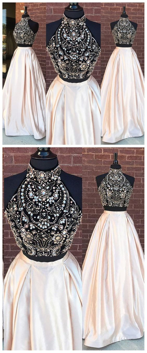 Two Piece Prom Dresses, Long Prom Dresses, Prom Dresses, Prom Dress B0174 #promdress #promdresses #promgown #promgowns #long #prom #modestpromdress #newpromdress #2018fashions #newstyles