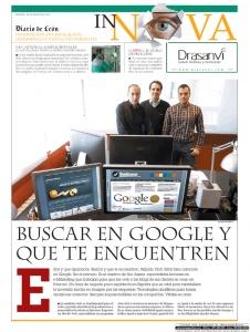 Página 1 del artículo que el Diario de León  dedicó a Seo Asesor el martes 28 de mayo de 2013