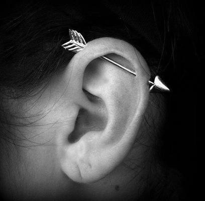 cool arrow ear piercing Cool Ear