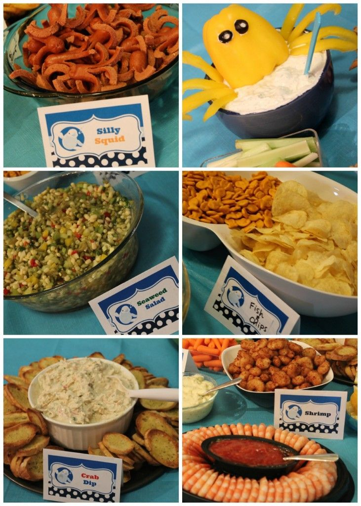 Ocean Party Food Also Lots Of Easy Decorating Ideas