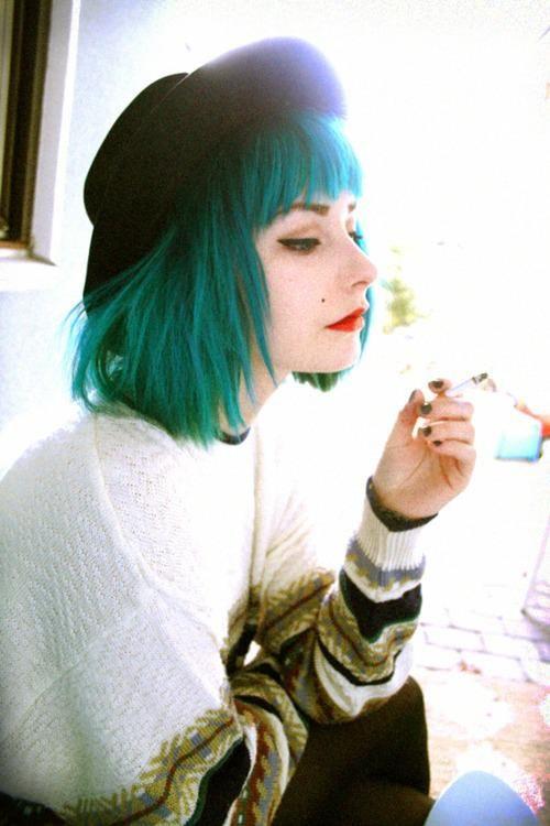 Couleur cheveux vert alpin