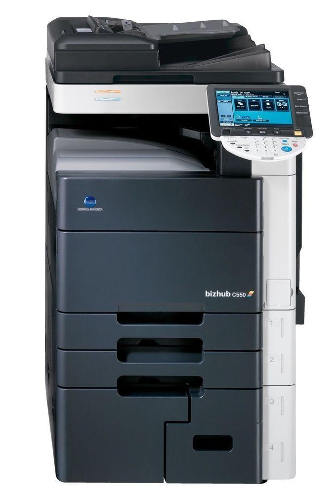 Konica Minolta Bizhub C550 Color Printer Copier Konicaminolta Konica Minolta Color Printer Locker Storage