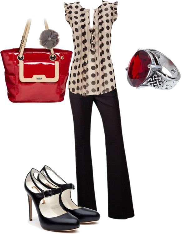 """A pop of color is the perfect way to dress up any work outfit!"" by graceadelestyle on Polyvore"