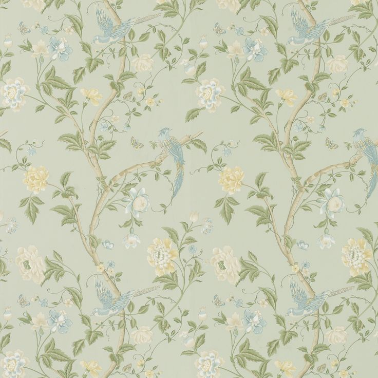 Laura Ashley Summer Palace Wallpaper - tempted to use this to up-cycle a chest of drawers sitting forlornly in the garage...