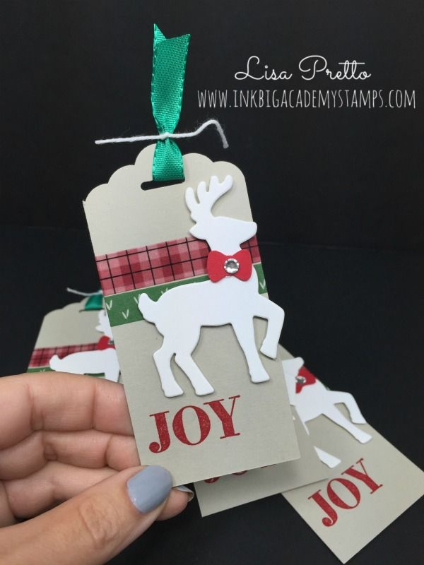 Stampin'Up! Santa's Sleigh bundles, Christmas tags, merry christmas, papercrafts, DIY
