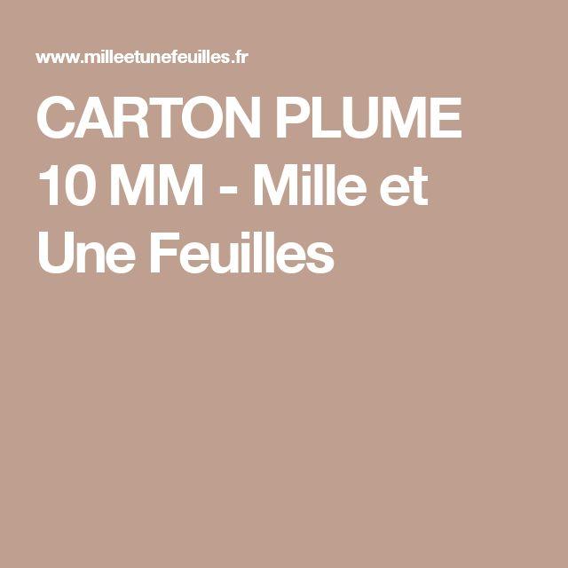 CARTON PLUME 10 MM - Mille et Une Feuilles