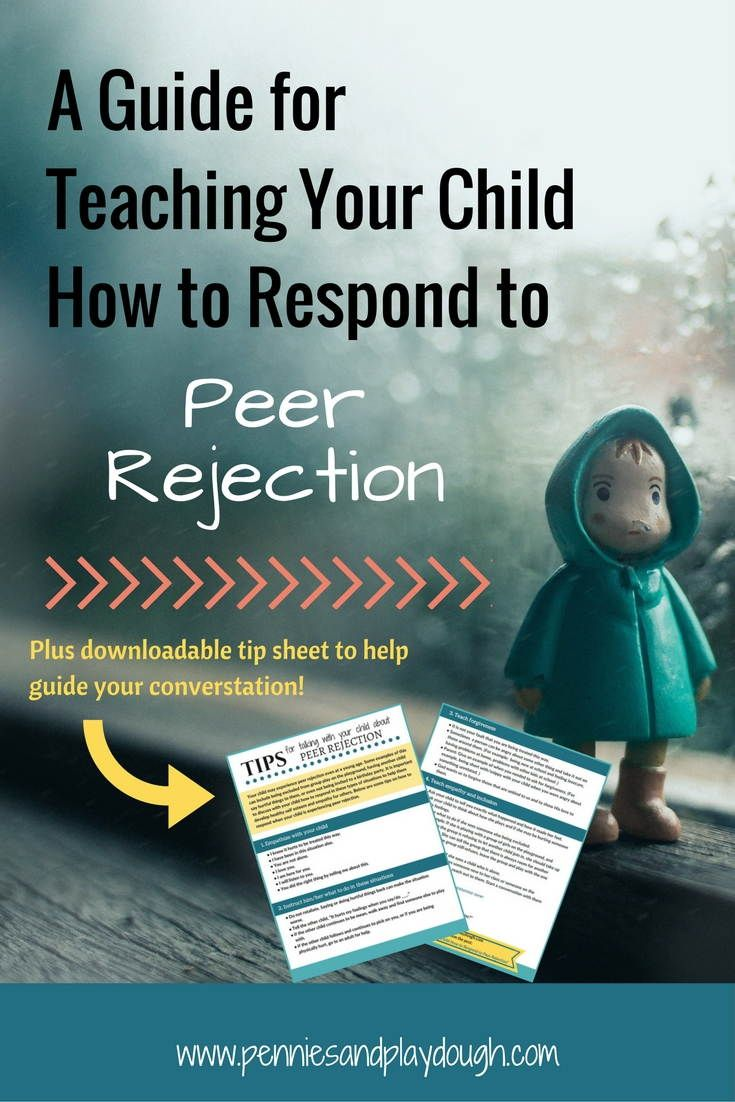 Check out these tips for how to respond when your child experiences peer rejection and teach the what to do in these situaions!